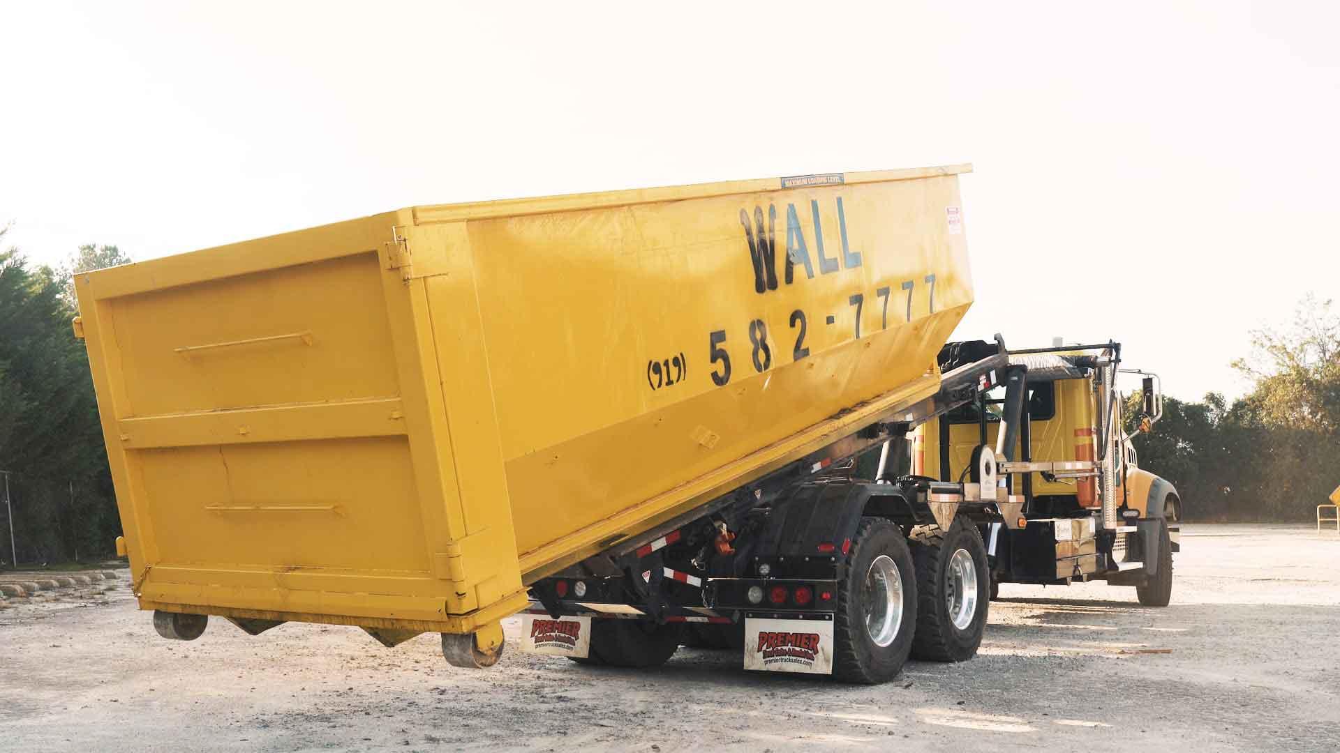 elite waste services rental dumpster raleigh