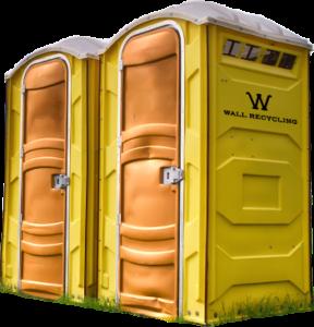 wall recycling porta potties