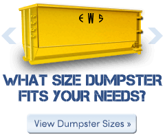 What size Wall Recycling dumpster fits your needs?