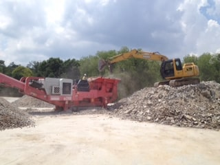 Stone crushing in Raleigh