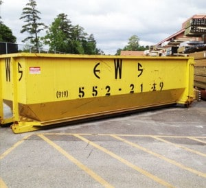 Wall Recycling commercial dumpster for rent in Raleigh