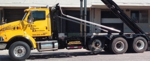 elite waste services dumpster rental truck