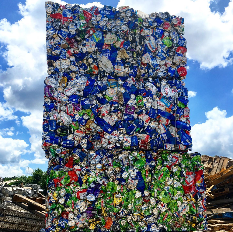 aluminum cans recycled with Wall Recycling