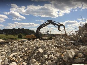 Raleigh concrete crushing services from Wall Recycling