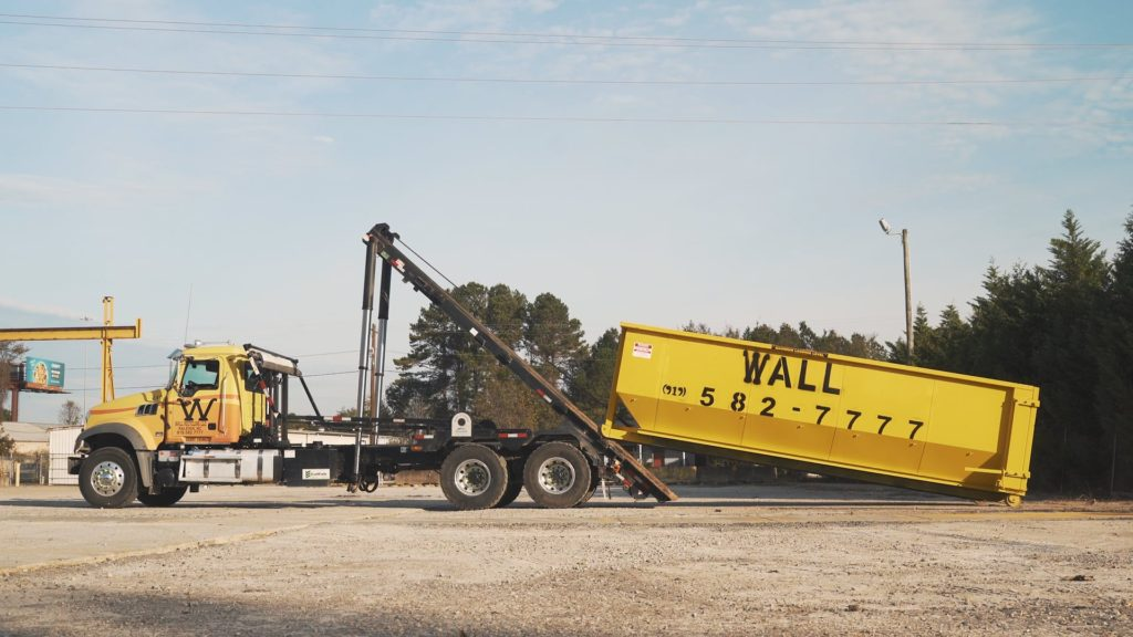 Raleigh commercial dumpster rental from Wall Recycling