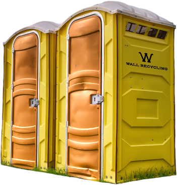 Raleigh porta potties for rent from Wall Recycling