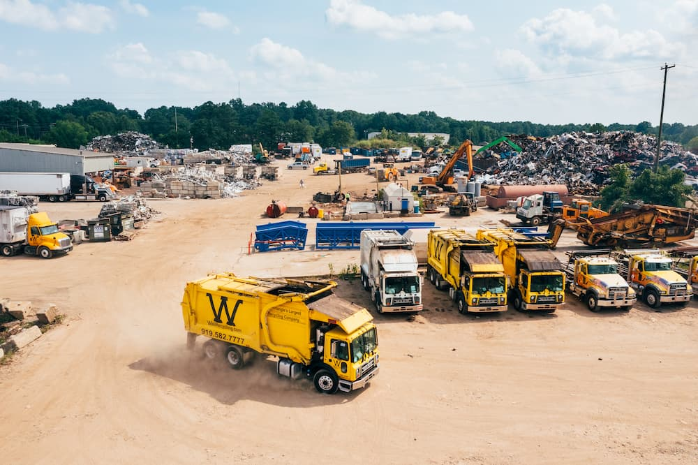 Aerial view of Wall Recycling location