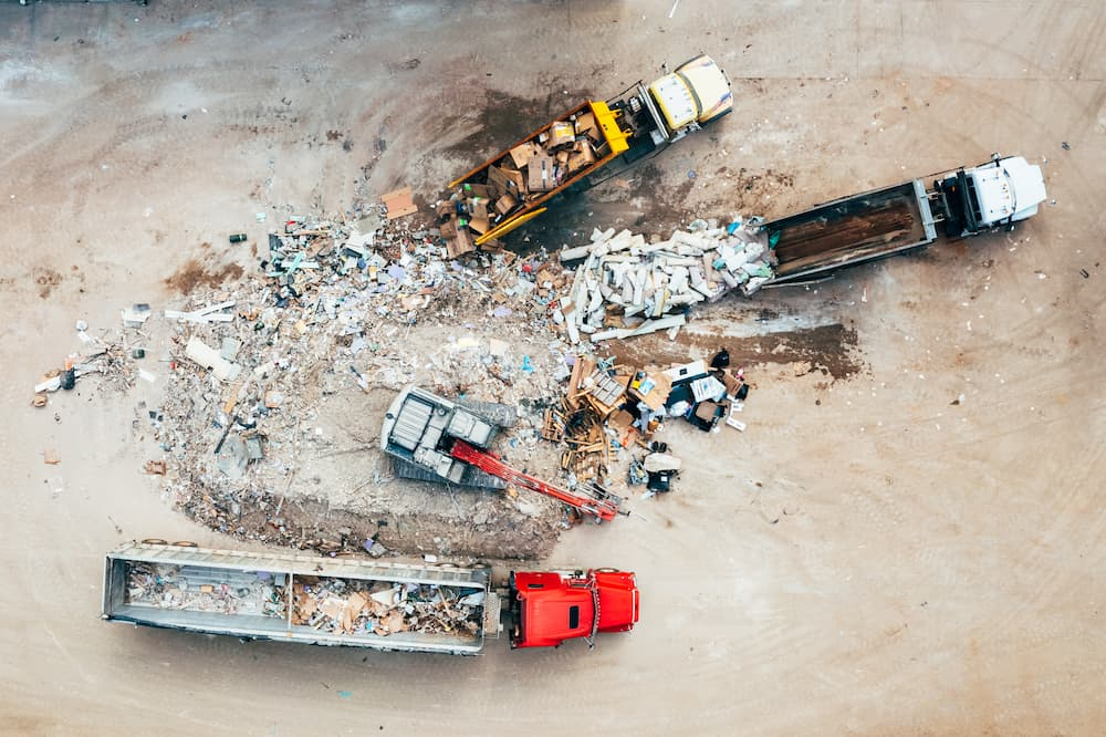 Wall Recycling transfer station